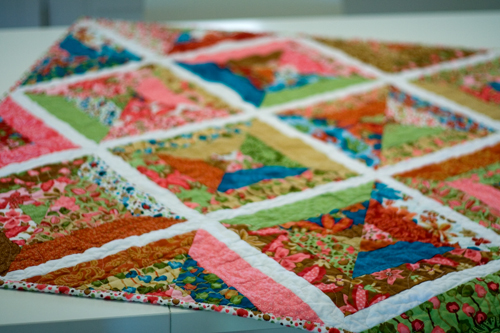 String quilt quilted