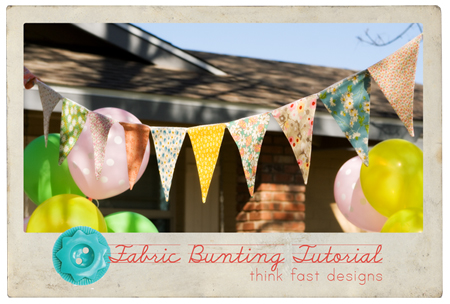 Fabric Bunting Title